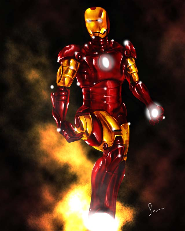 Iron Man speed painting in photoshop