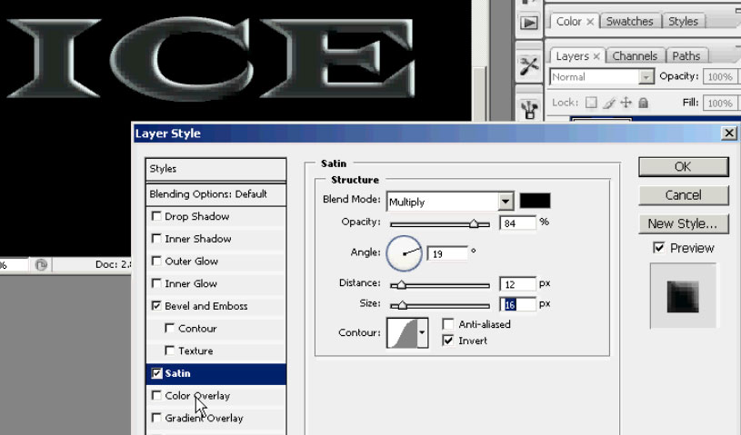 Ice & Icicle text effect in Photoshop | San M  Weng